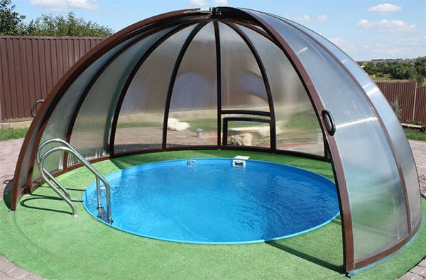 Навес над бассейном. 4 вида навесов для частного дома